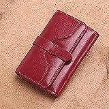 loknhg Kurze Brieftasche für Damen, Lederbrieftasche, zweifache Brieftasche, koreanische Version von Mini-Rindsleder, die kleine modische kleine Geldbörse