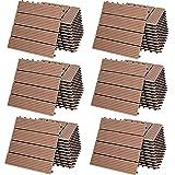 Deuba WPC Fliesen 30x30cm 66er Set 6m² Stecksystem Drainage Zuschneidbar Terrasse Balkon Garten klick Klassik Terrakotta