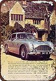 NOT Aston Martin Db Wand Dekoration Retro Metallplakat Zinn Zeichen gemalt Kunst Dekoration Plaque Warnung Cafe Garage Party Spielzimmer
