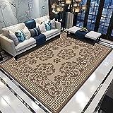 NF Huipeng Teppich für große Flächen, Vintage, Wohnzimmer, Schlafzimmer, Matte, rutschfest, waschbar, ethnischer Retroteppich, traditioneller kleiner Bereich, 140 x 200 cm