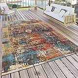 Paco Home In- & Outdoor Teppich Modern Nomaden Design Terrassen Teppich Bunt, Grösse:160x220