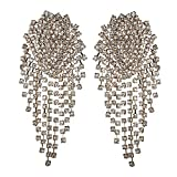 Große Damen-Ohrringe, modisch, groß, für Party, Hochzeit, Schmuck, Geschenke (Metallfarbe: Gold / Weiß)