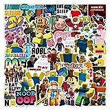 ZZHH 53Pcs Spiel Anime Doodle Aufkleber DIY Gepäck Laptop Roller Kühlschrank Tasse Cartoon Schreibwaren Aufkleber Spielzeug