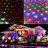 Zhangpu LED Lichternetz 3x2m 200 LEDs Lichterkette Netz mit Fernbedienung & Timer 8 Modi Lichterkettennetz für Weihnachten Partydekoration W