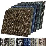 Teppichfliesen Linz | selbstliegend | Strapazierfähig und pflegeleicht | Bodenbelag für Büro und zu Hause | 50x50 cm | Gemustert (Braun 02)