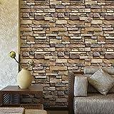 3D Wall Paper Simulation Ziegelstein Rustikaler Effekt Selbstklebender Wandaufkleber Home DecorFashionSimple