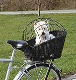 Trixie 13117 Fahrradkorb mit Gitter, 35 × 49 × 55 cm, schw
