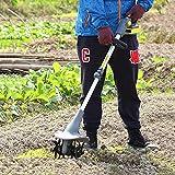 BJYX Gartenfräse Elektro, Bodenhacke Gartenkultivator, Motorhacken mit 20V 2500 mAh Akku für Garten Gemüsegarten, Kabellose Tragbare Bodenfräse, Geschwindigkeit 330 u/min