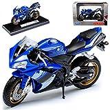 Welly Yamaha YZF-r1 YZF R 1 R1 Blau 2008 1/18 Modellmotorrad Modell Motorrad
