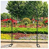 SSHHM Metall Rosenbogen,Kletterpflanzen Torbogen Gartenbogen Rankhilfe,Garten-Patio-Dekoration im Freien/A / W3.5×H2.2m