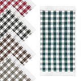 Küchenteppich Kariert 50 x 75 cm Anthrazit für Küche, Flur, Wohnzimmer • Küchenläufer rutschfest und waschbar in der Maschine • Teppich aus 100% Baumwolle mit verspielten F