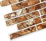 STM Dekor | PVC Paneele Brauner | 1 Platte | Schiefergestein | Wandpaneele | Deckenpaneele | Tapete | Wanddeko | Wandaufkleber | Schaumstoff | Wasserfest | Kunstoff Platt