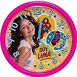 Soy Luna Mädchen Wanduhr Kunststoff Rosa 93711