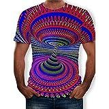 T-Shirt Herren Sommer Mode Rundhals Herren Sportshirt Persönlichkeit 3D Druck Kurzarm Laufshirt Basic Einfarbig Kragenloses Shirt Casual Atmungsaktives Shirt Z-001 XXS