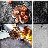Selens 56x88cm 2in1 Hintergrund Schwarzer und Weiß Zement Flatlay Tischplatte Fotografie Doppelseitiger Hintergründe für Gourmet Blogger, Kosmetik, Online Shops Produktfotografie, Lebensfotos
