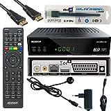 Edision Piccollino S2 Full HD Satelliten-Receiver FTA HDTV DVB-S2 (HDMI, USB 2.0,Scart,Display,CA,LAN) Deutsch vorprammiert inkl.Wlanabel und HDMI Kabel