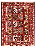 Austin rotes Sumak-Muster, 170 x 240 cm, traditioneller, handgeknüpfter, moderner Teppich und Teppich