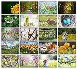 Blanko-Karten für jede Jahreszeit (Frühlingsmotiv)