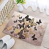 Yumanluo Rutschfester Schmutzfängerfußmatte,Bedruckte Fußmatte, Badezimmer Schlafzimmer Küche Fußmatte-N_40 * 60,Fußmatte in vielen Größen