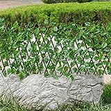 N / E Garten Sichtschutz, Künstliche Hecke Gartenzaunrolle Grüner Wandbalkon Erweiterung der Gitterzaunrolle UV-verblassen Geschützte PVC versenkbarer Zaun Gitterheckenpflanze für Gartendekorationen