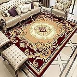 Oukeep Rechteckiger Teppich Im Europäischen Stil, Großflächige Decken Im Wohnzimmer, Sofa Und Schlafzimmer, Dicker Rutschfester Couchtisch, Nachttisch