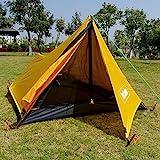 EIN Turm Ultraleichtes Zelt 1 Person Camping Zelt Wandern Berg Rucksack Wasserdichtes Single Bivvy Zelt 20D Silikon EIN-Mann-Zelt