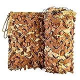 Yeanee 210D Tarnnetz Sonnenschutz Net Woodland Tarnung Netz 2x3M, 3x8M,4x4M,5x5M,6x8M,10x10M Jagdschießen Camouflage Netz,Wüstenfarbe