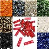 9900 Stück Glas Rocailles Perlen 6mm, Glas Bugle Stiftperlen, Röhrchen, Tubes, Stäbchen perlen, Roccailles, Seed Beads 15 Pack