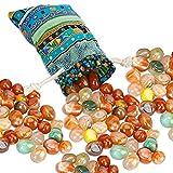 Edelsteine, Halbedelsteine, Trommelsteine Heilsteine groß 200g im Stoffsack, Natürliche Trommelsteine, Glückssteine für Kinder, zur Schatzsuche, als Heilsteine, zur Dekoration, Edelsteinspiele