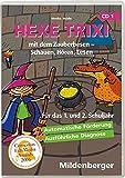 Hexe Trixi mit dem Zauberbesen - Schauen, Hören, Lesen, 1 CD-ROM (Klassenversion, Einzellizenz) Für das 1. und 2. Schuljahr. Für Windows 95/98/2000/Me/XP oder Macintosh OS 8.1. 10 Lernspiele
