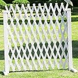 JIANFEI-weilan Gartenzaun Steckzaun Blumenbeetkante Gartendekoration Verkohlung Korrosionsbeständig, 2 Farben, 3 Größen (Color : White, Size : 80x160cm)