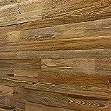 Wandverkleidung aus Altholz, Natürliches Vintage Holz Wandpaneele | model'Amber' | Wooden Wall Design (1m2)