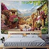 Mandala Indische Schlossarchitektur Europäischer Wandteppich Dekorativer Wandbehang-Hintergrundstoff im böhmischen Stil a7 150x200cm