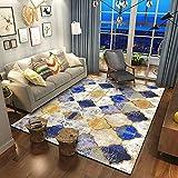 Wohnzimmerteppich Mit Nordischem Farbverlauf Couchtischkissen-Sofadecke, Geometrische Studiendekorationsdecke Mit Unregelmäßigem Muster