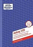 AVERY Zweckform 1725 Auftrag (A5, 2x40 Blatt, selbstdurchschreibend mit farbigem Durchschlag, zur systematischen Erfassung aller relevanten Auftragspositionen) weiß/gelb