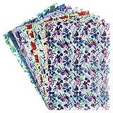 Ideen mit Herz Dekorpapier | Motiv-Transparentpapiere Deluxe | geprägt | farbig | Spotlack-veredelt | DIN A4 | 150g/m² | 10 Bogen | Bastelpapier mit Muster (Frühlingsblumen)