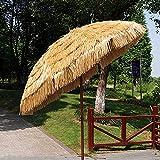 CHLDDHC Sonnenschirm im hawaiianischen Stil, Naturschirm im Freien, Sonnenschirm im Freien 5.9Ft / 6.8Ft, Mit Kipp- und Kurbelvorrichtung, wasserdicht, für Pool, Villa, Terrasse, Resort