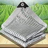 Schattentuch für Pflanzen, Aluminet Schattenstoff mit Ösen, 75% reflektierendes Sonnensegel, ideal für Gewächshaus/Wohnmobil-Vorzelt/Garten/Hundekäfig-Abdeckung (Größe: 1 × 1 m)
