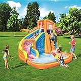 LHFLU-SP Aufblasbares Poolspielzentrum, aufblasbarer Vergnügungswasserpark mit Rutsche für Kinder, Baby-Planschbecken