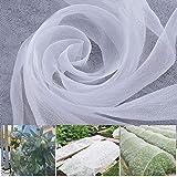 APODA Insektenschutznetz, Insektenschutznetz für den Garten, Insektennetz für Vögel, feinmaschig, zum Schutz von Pflanzen, Blumen, Obst und Gemüse im Garten, Weiß