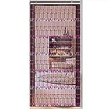 Perlenvorhang Türvorhang Fadenvorhang für Türen, Hängevorhang mit 90 Strängen Kunststoff, Wohnzimmer Flur Terrasse Dekoration Raumteiler, 90x200cm / 35,5' x78,7, Anpassen (Color : C)