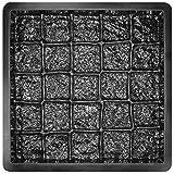 @tec Betonform Schalungsform Plastikformen für Beton, Bodenplatten, Gartenplatten, Gehweg Platten aus ABS-Kunststoff, ABS Betonform, Kopfsteinpflaster Granitoptik 49x49x5