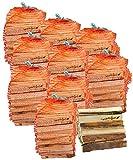 ungefähr 10 Säcke mumba-Anfeuerholz (insgesamt ca. 30kg) Fichte/Kiefer, Scheitabmessungen ungefähr 15-17 x 40-45 x 190