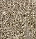 Port Moderner Hochflor Shaggy Wohnzimmer Teppich Soft Garn Einfarbig Beige Größe: 160x220 cm