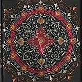 Boncahier 104012 Notizbuch 17.5 x 17.5 cm, 144 Seiten, blanco, Mandalas Motiv, schwarz/silb
