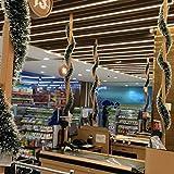Sairis Weihnachtsbaumschmuck Weihnachtsschmuck Dunkelgrün Weiß Weihnachten Bunte Streifen Weihnachten Pelzstreifen-dunkelgrün