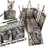 TOUZUTY Hunde Autoschondecke Hundedecke für Auto Rücksitz rutschfeste Wasserdicht Kratzfest und rutschfest mit Sichtfenster, Tragetasche und Sicherheitsgurte, Rücksitzbezüge für Auto Van SUV(Grün)