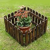CYYAN gartenzaun Holz, gartenzaun Komplettset zaunelemente gartenzaun Holzzaun Garten Gartenzaun Kleine Leitplanke