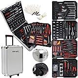 Masko® 969 tlg Werkzeugkoffer Werkzeugkasten Werkzeugkiste Werkzeug Trolley Profi 969 Teile Qualitätswerkzeug Silber