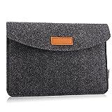 MoKo 9-11' Filz Tablet Hülle, Tragbare Filz Schutzhülle Tasche Kompatibel mit iPad Pro 11 2021/iPad 8 10.2/iPad Air 4 10.9/iPad 10.2/Air 3 10.5/Pro 10.5/Pro 11, iPad 9.7/Galaxy Tab 10.1, Dunkelgrau